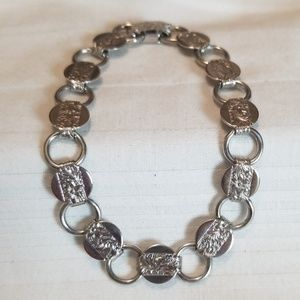 Sarah Cov Silver Tone Etched Bracelet